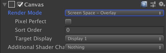 図2: 「Screen Space - Overlay」の設定