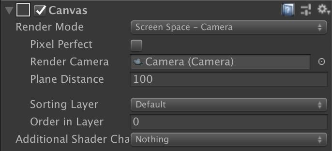 図3: 「Screen Space - Camera」の設定